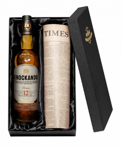 12 Year Old Knockando Whisky & Newspaper
